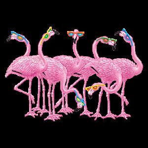 PINK FLAMINGOS W/SUNGLASSES(Y)