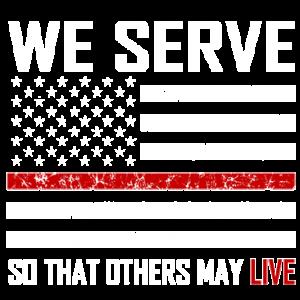 WE SERVE RED LINE