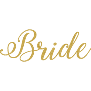 BRIDE GOLD GLITTER SCRIPT