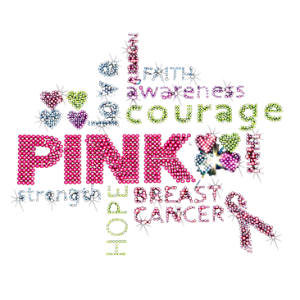 PINK BREAST CANCER RHINESTONE COLLAGE