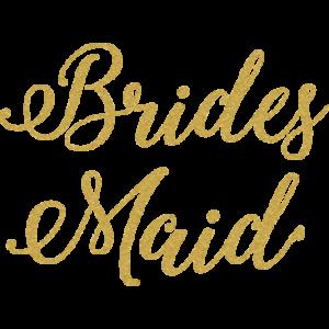 BRIDESMAID GOLD GLITTER SCRIPT