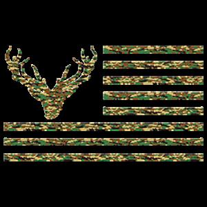 CAMO FLAG WITH DEER HEAD