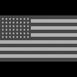GREY AMERICAN FLAG CREST