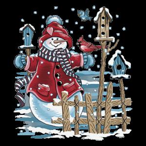 SNOWMAN & BIRDHOUSES
