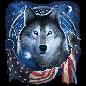 WOLF DREAM FLAG