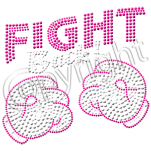 FIGHT BACK NEON RHINESTUDS