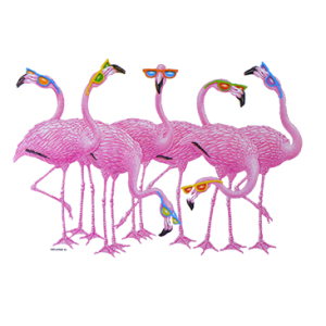 FLAMINGO'S W/ SUNGLASSES