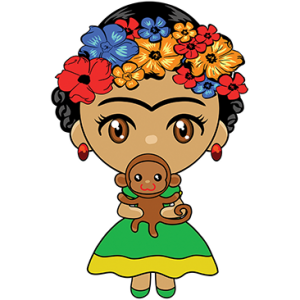 FLOWER GIRL W/ MONKEY