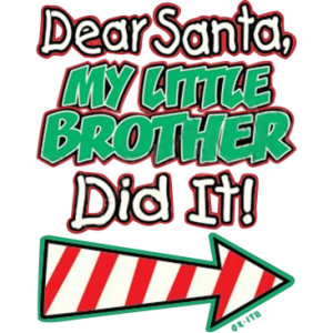 SANTA- LITTLE BROTHER DID IT