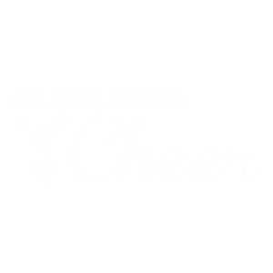 EAT SLEEP CHEER WHITE