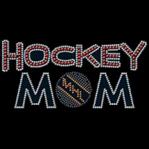 HOCKEY MOM RHINESTONE