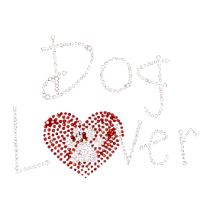 DOG LOVER RHINESTONES