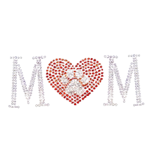 PAW PRINT MOM RHINESTONES