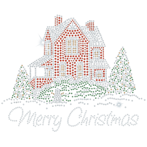 CHRISTMAS HOUSE RHINESTONE