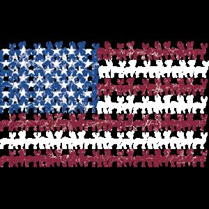 AMERICAN FLAG DEER