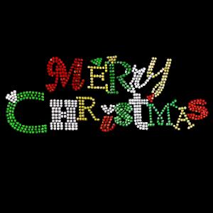 MERRY CHRISTMAS RHINESTONES