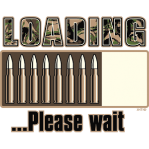 LOADING PLEASE WAIT BULLETS