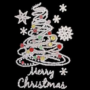 CHRISTMAS TREE W SNOWFLAKES RHINESTONES
