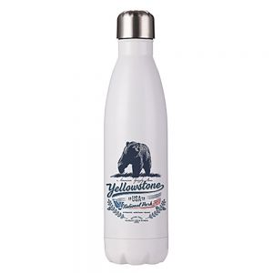 STAINLESS STEEL COLA BOTTLE - WHITE