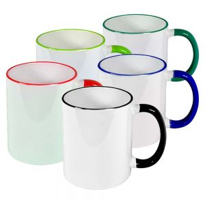 Case of 36- 11 oz Color Handle Mugs