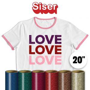 """Siser Glitter Vinyl By The Yard 20"""""""
