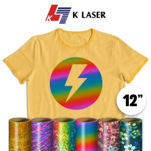 """Holographic and Pattern Foil Rolls 12"""" x 25 ft"""