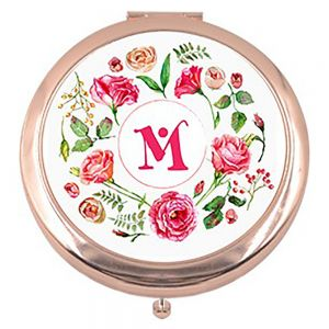 ROUND ROSE GOLD COSMETIC MIRROR