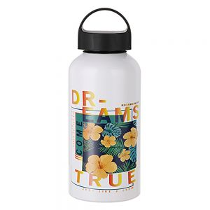 WATER BOTTLE WITH HANDLE - 17 OZ WHITE
