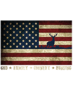 US FLAG WITH DEER