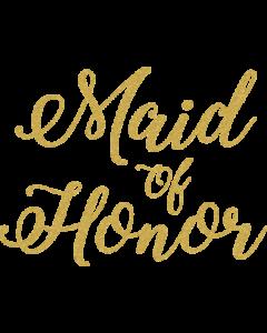 MAID OF HONOR GOLD GLITTER SCRIPT