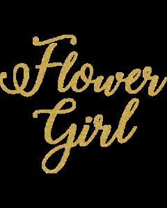 FLOWER GIRL GOLD GLITTER SCRIPT