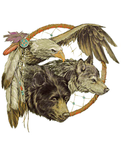 WOLF, EAGLE, BEAR DREAMCATCHER