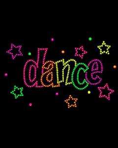 DANCE NEON RHINESTUD
