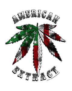 AMERICAN EXTRACT, MARIJUANA LEAF FLAG