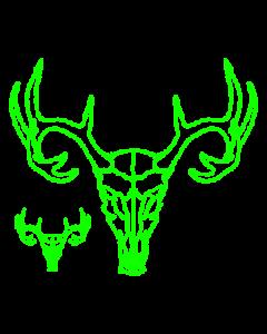 NEON GREEN DEER SKULL