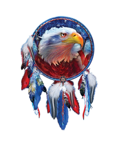 EAGLE-RED WHITE BLUE
