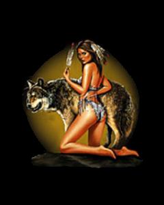 WOLF/INDIAN MAIDEN