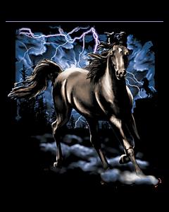 HORSE W/ LIGHTNING     42