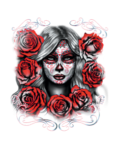 SUGAR GIRL WITH RED ROSES