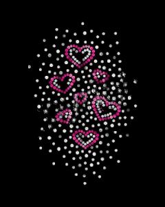 PINK HEARTS SEQUINS