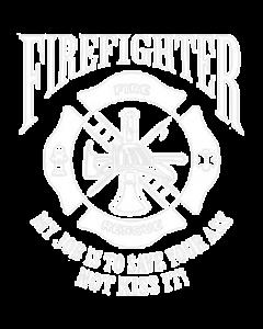 U.S. FIREFIGHTER JOB WHITE INK