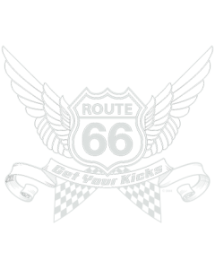 *ROUTE 66 WINGS WHITE