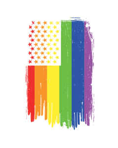 GAY PRIDE VERTICAL FLAG NEON
