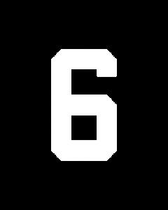 "6"" NUMBER 6/9- WHITE (warm peel)"