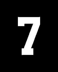 "8"" NUMBER 7- WHITE (warm peel)"