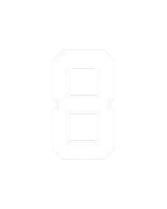 "8"" NUMBER 8- WHITE (warm peel)"