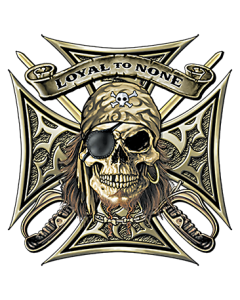 LOYAL TO NONE~PIRATE SKULL   17