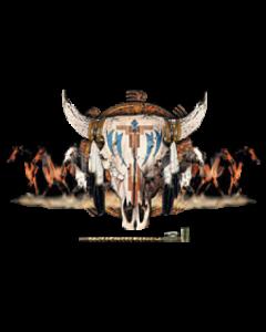 NATIVE AMERICAN COW SKULL   13