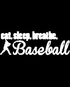 EAT SLEEP BASEBALL WHITE