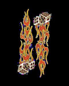 FLAMING DICE~SLEEVE  16